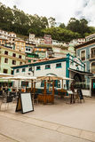 Houses in the hill in Cudillero, Asturias Stock Images