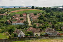 Houses on the hill Royalty Free Stock Images