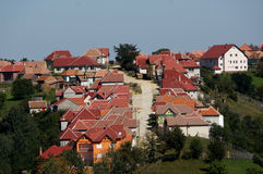 Houses on the hill Royalty Free Stock Image