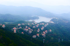 The houses on the hill. The photo was taken in Grand Canyon scenic spot Shenzhen city Guangdong province, China Stock Photo