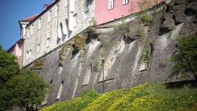 Houses on the hill Toompea. Old city, Tallinn, Estonia. stock video footage