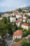Houses on the hill. View of montenegrin town of Herceg Novi Stock Photography