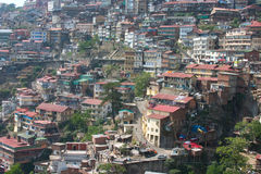 Houses on the Hills. Houses built on hill slopes in Shimla, India Royalty Free Stock Images