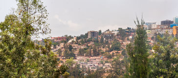 Houses on the hills of Kigali Royalty Free Stock Image