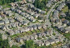 Houses on Hillside - Aerial Royalty Free Stock Image