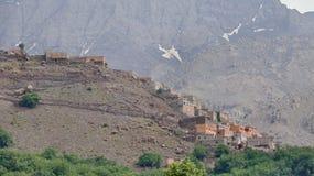 Houses on the hillside stock image