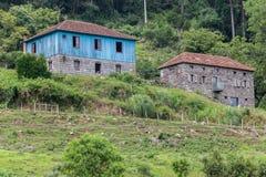 Houses histórica Caminhos de Pedra el Brasil Fotos de archivo