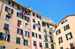 Houses in the historic center of Genoa Royalty Free Stock Images