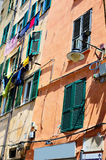Houses in the historic center of Genoa Stock Photo