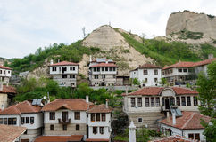 Houses in historic Melnik, Bulgaria Royalty Free Stock Photos