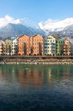Houses in the historical city Innsbruck in Tirol Stock Photography