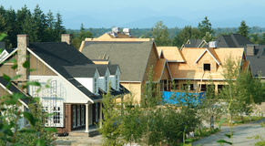 Houses Homes Construction New Subdivision Stock Image