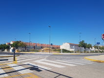 Houses. House in the street blue sky in sueca clear sky and a road royalty free stock photos