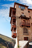 Houses hung (casas colgadas) in Cuenca, Castilla-La Mancha, Spai Royalty Free Stock Photo