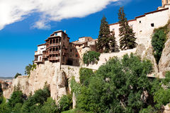 Houses hung (casas colgadas) in Cuenca, Castilla-La Mancha, Spai Royalty Free Stock Images