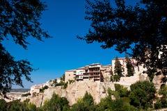 Houses hung (casas colgadas) in Cuenca, Castilla-La Mancha, Spai Royalty Free Stock Image