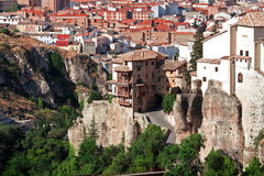 Houses hung (casas colgadas) in cuenca, Spain Royalty Free Stock Photos