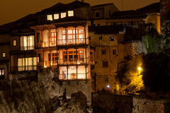 Houses hung in cuenca. The houses hung, are one of the most famous buildings in cuenca, Spain Royalty Free Stock Image