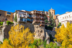 Houses hung in cuenca, Spain Royalty Free Stock Photo