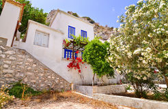 Houses at Hydra Saronic gulf Greece Stock Photos