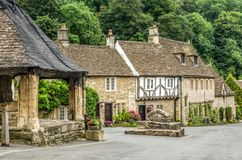 Houses in Castle Combe Village Royalty Free Stock Photos