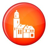 Houses icon, flat style Royalty Free Stock Photography