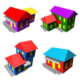 Houses icons Royalty Free Stock Image