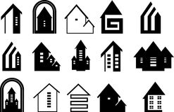 Houses icons. Stock Images