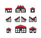 Houses icons Stock Photos