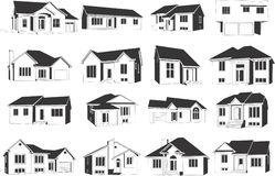 Houses icons Stock Photography
