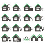 Houses icons Stock Images