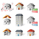 Houses icons set Royalty Free Stock Images