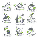 Houses icons set Royalty Free Stock Photos