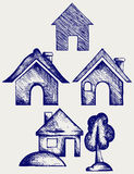 Houses icons set Stock Photo
