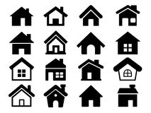 Houses icons set, Home icon. Vector illustration set of various Houses icons set, Home icon Stock Photo