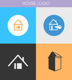 Houses icons set Royalty Free Stock Image