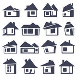 Houses icons set. Real estate Royalty Free Stock Images