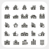 Houses icons set, Real estate Stock Photo