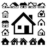 Houses icons set. Real estate. Royalty Free Stock Photos