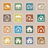 Houses icons set. Real estate. Stock Photography