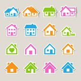 Houses icons set. Real estate. Stock Images