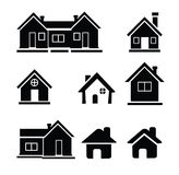 Houses icons set Stock Photos