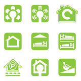 Houses icons set. Real estate. Royalty Free Stock Image
