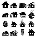 Houses icons set Stock Photography