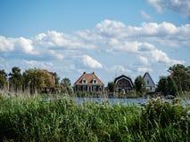 Houses. Idyllic houses on a Dutch dike Stock Photo