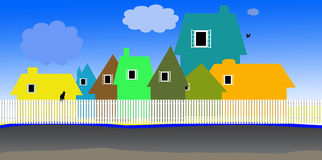 Houses illustration Royalty Free Stock Photography