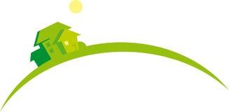 Houses (image symbolizes growing real estate marke. Real estate concept illustration. Vector lpgo royalty free illustration
