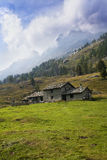 Houses In The Mountains Stock Photos