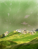 Houses In The Mountains Royalty Free Stock Photography