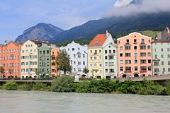 Houses in Innsbruck Royalty Free Stock Images